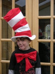 Cat in the Hat with bowtie