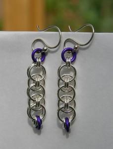 Parallel weave earrings