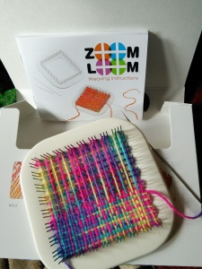 First square on the Zoom Loom...